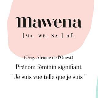 """// MAWENA & CO // 🌸 . .  🇫🇷 Vous vous êtes toujours demandé ce que signifiait Mawena ? Eh bien voilà la réponse ! 😍 """"Mawena"""", c'est le prénom d'une jeune fille que j'ai rencontrée dans le village originaire de mes parents en Afrique de l'Ouest. Cela signifie """"je suis vue telle que je suis"""". Cette pensée positive représente les valeurs de notre démarche.  . @mshelenamendes , Fondatrice de Mawena . . 🇬🇧 Ever wondered what Mawena meant ? Well here's the answer ! 😍 """"Mawena"""" is the name of a young girl I met in the village of my parents i West Africa. It means """"I am seen as I am"""". This positive thought represents the values of ou approach. . @mshelenamendes , Founder of Mawena . . #mawena #veganbeauty #organicskincare #greenbeauty #indiebrand #confidentbeauty #beautenaturelle #beauteengagee #ethicalbeauty #ethicallymade #cosmetiquebio"""